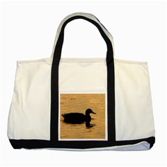 Lone Duck Two Toned Tote Bag