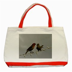 Chit Chat Birds Red Tote Bag