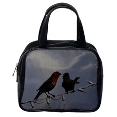 Chit Chat Birds Single-sided Satchel Handbag