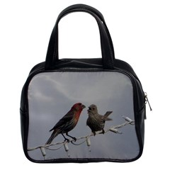 Chit Chat Birds Twin-sided Satched Handbag