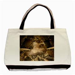 Prince Kitty Twin-sided Black Tote Bag