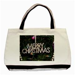 Merry Christmas  Black Tote Bag