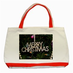 Merry Christmas  Red Tote Bag