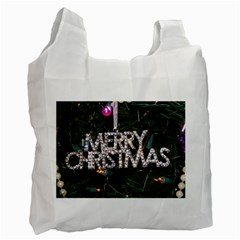 Merry Christmas  Twin-sided Reusable Shopping Bag
