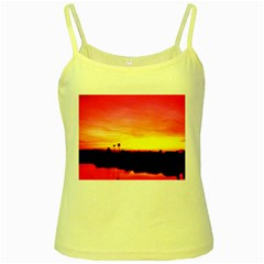 Pink Sunset Yellow Spaghetti Top