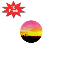 Pink Sunset 10 Pack Mini Magnet (Round)
