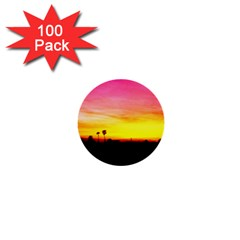 Pink Sunset 100 Pack Mini Button (round)