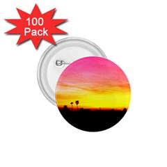 Pink Sunset 100 Pack Small Button (Round)