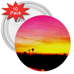 Pink Sunset 10 Pack Large Button (round)