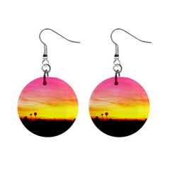 Pink Sunset Mini Button Earrings
