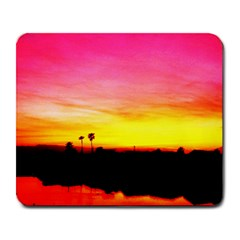 Pink Sunset Large Mouse Pad (Rectangle)