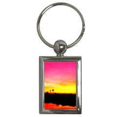 Pink Sunset Key Chain (rectangle)