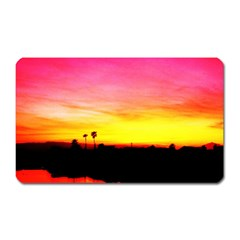 Pink Sunset Large Sticker Magnet (rectangle)