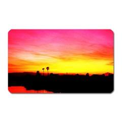 Pink Sunset Large Sticker Magnet (Rectangle)