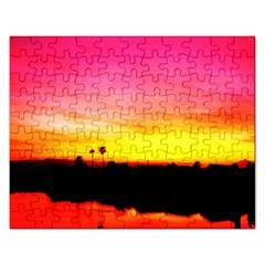 Pink Sunset Jigsaw Puzzle (Rectangle)