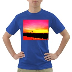 Pink Sunset Colored Mens'' T-shirt