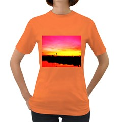 Pink Sunset Dark Colored Womens'' T Shirt