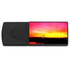 Pink Sunset 4Gb USB Flash Drive (Rectangle)