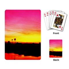 Pink Sunset Standard Playing Cards