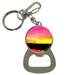 Pink Sunset Key Chain with Bottle Opener
