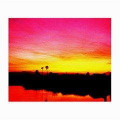 Pink Sunset Twin-sided Glasses Cleaning Cloth