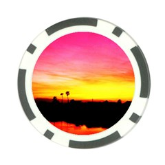 Pink Sunset Poker Chip