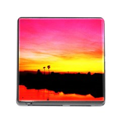 Pink Sunset Card Reader with Storage (Square)