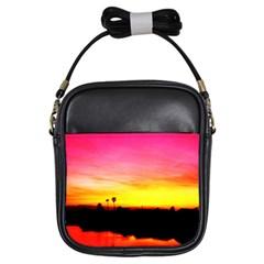 Pink Sunset Kids'' Sling Bag