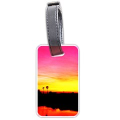 Pink Sunset Twin-sided Luggage Tag