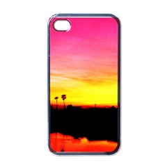 Pink Sunset Black Apple Iphone 4 Case