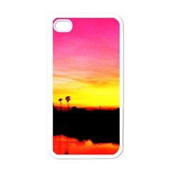 Pink Sunset White Apple iPhone 4 Case