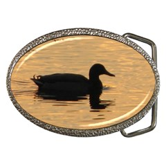 Lone Duck Belt Buckle (Oval)