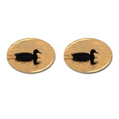Lone Duck Oval Cuff Links