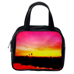 Pink Sunset Single Sided Satchel Handbag