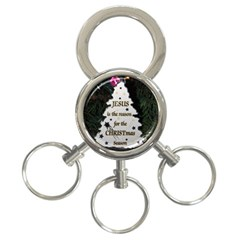 Jesus is the Reason 3-Ring Key Chain