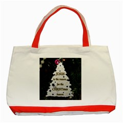 Jesus is the Reason Red Tote Bag