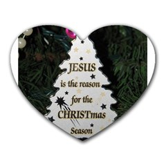Jesus is the Reason Mouse Pad (Heart)