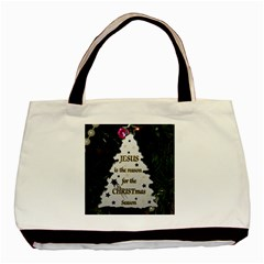 Jesus is the Reason Twin-sided Black Tote Bag