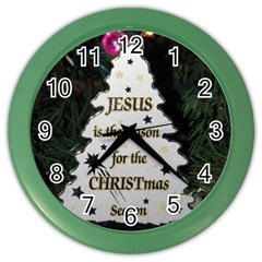 Jesus is the Reason Colored Wall Clock