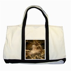 Royal Kitty Two Toned Tote Bag