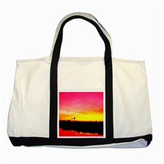 Pink Sunset Two Toned Tote Bag