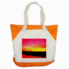 Pink Sunset Snap Tote Bag