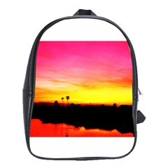 Pink Sunset Large School Backpack