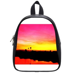 Pink Sunset Small School Backpack
