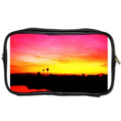 Pink Sunset Single-sided Personal Care Bag