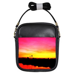 Pink Sunset Kids'' Sling Bag