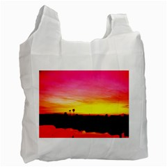 Pink Sunset Single-sided Reusable Shopping Bag