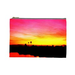 Pink Sunset Large Makeup Purse