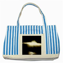 Sunset Glory Striped Blue Tote Bag