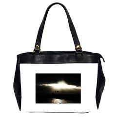 Sunset Glory Oversize Office Handbag (Two Sides)